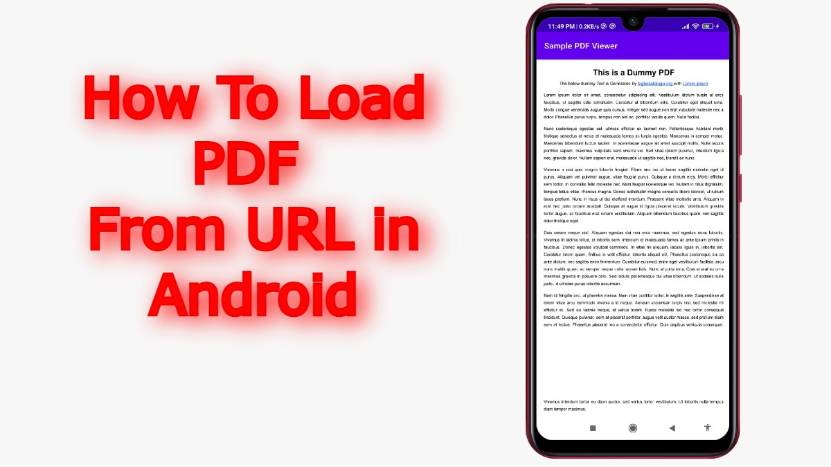 How To Load PDF From URL in Android